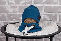 """Набір шапочка з снудом """"Hills"""", темно-бірюзова, размеры42-46, 46-50, 50-54"""