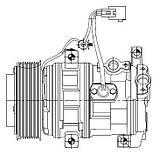 Компрессор кондиционера Toyota Land Cruiser 200 (07-) 4.5D/4.6i , фото 3
