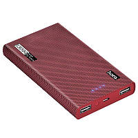 Power bank Hoco B36 Wooden 13000mAh (red cell pattern), фото 1