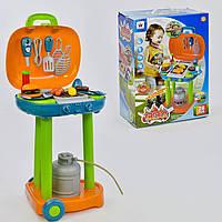 Игровой набор для детей Барбекю музыкальный, свет + посудка. Для мальчиков и девочек