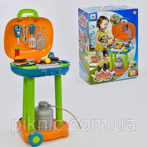 Игровой набор для детей Барбекю музыкальный, свет + посудка. Для мальчиков и девочек, фото 2