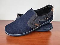 Чоловічі мокасини сині джинсові (код 3131), фото 1