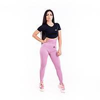 Лосины женские с высокой посадкой fitU Розовые