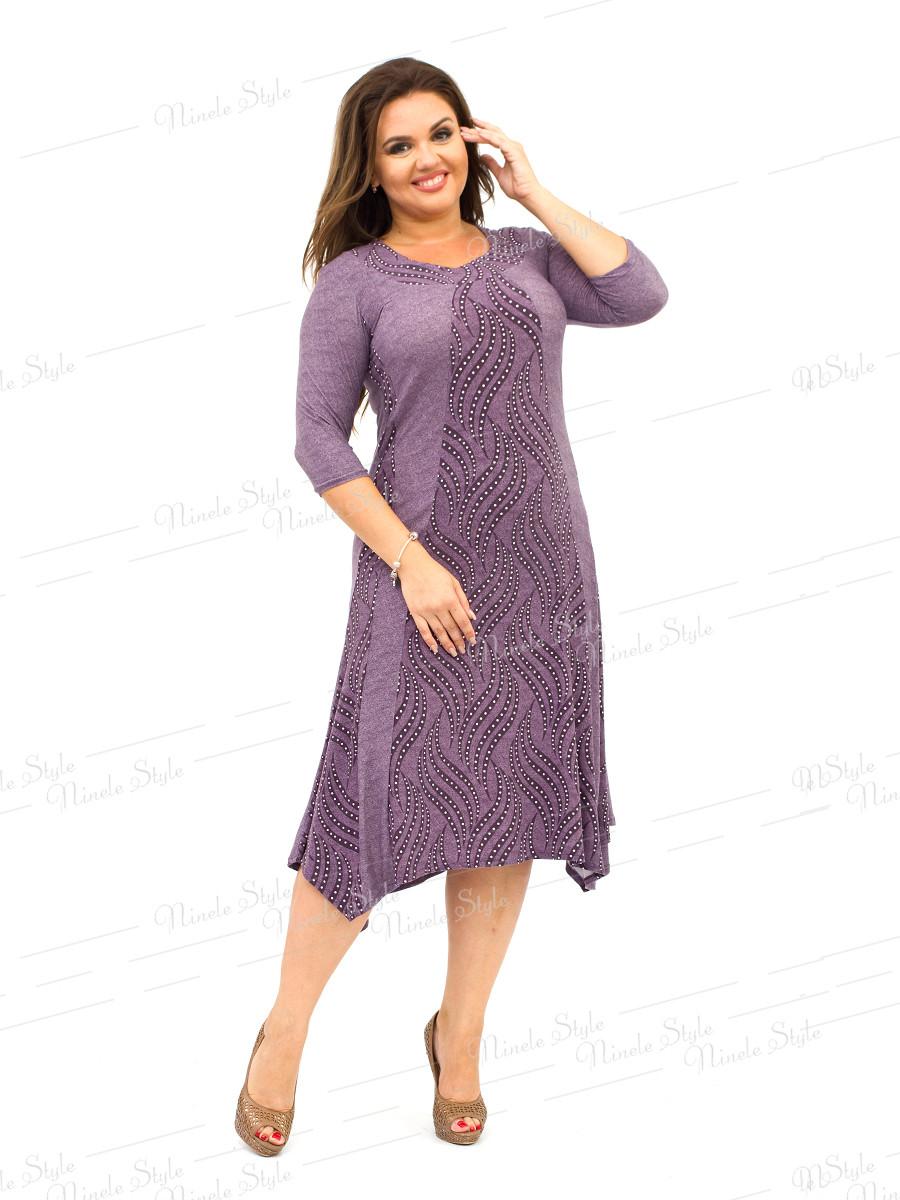 Благородное фрезовое женское платья трикотаж 332 56