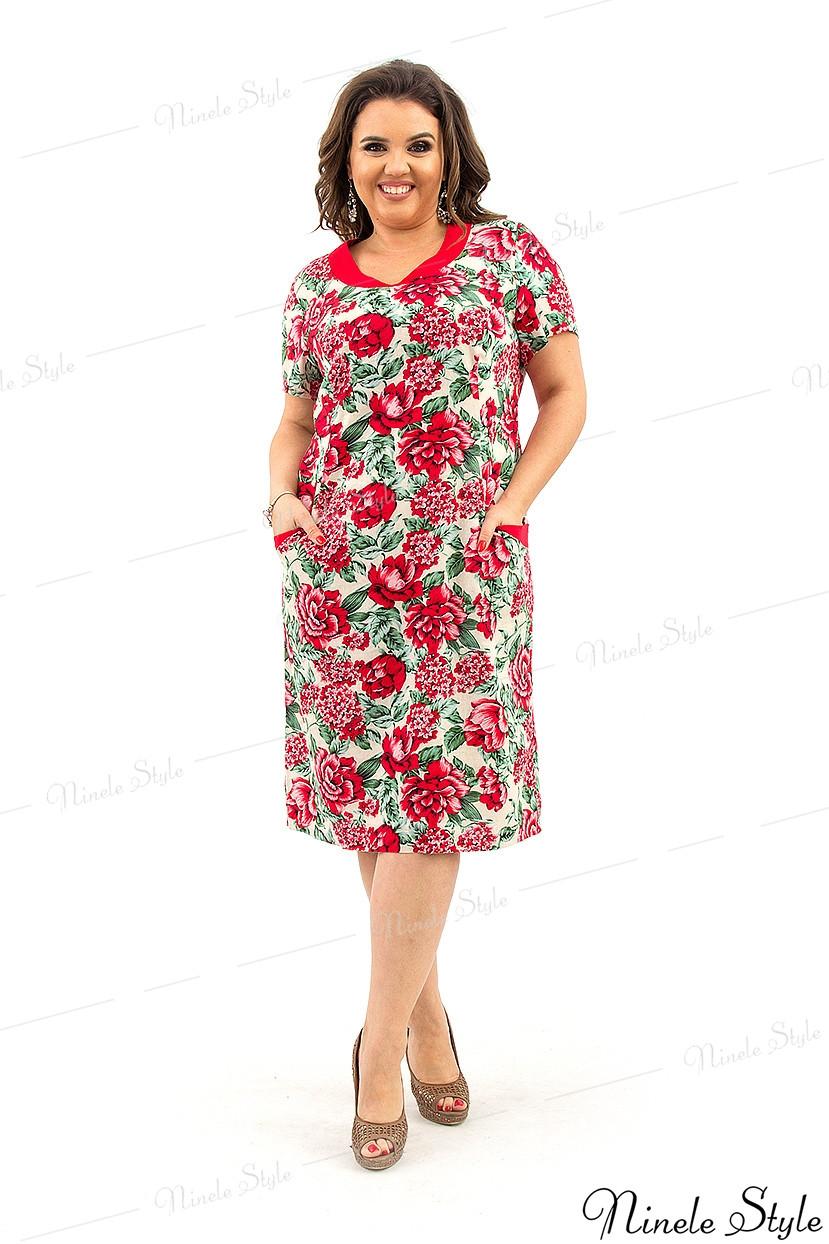 Платье женское с цветочным принтом - лето 2019 года  217 56
