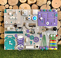 Интерактивный Бизиборд с Фонариком, размер 50*65 бізіборд busyboard  Развивающая доска