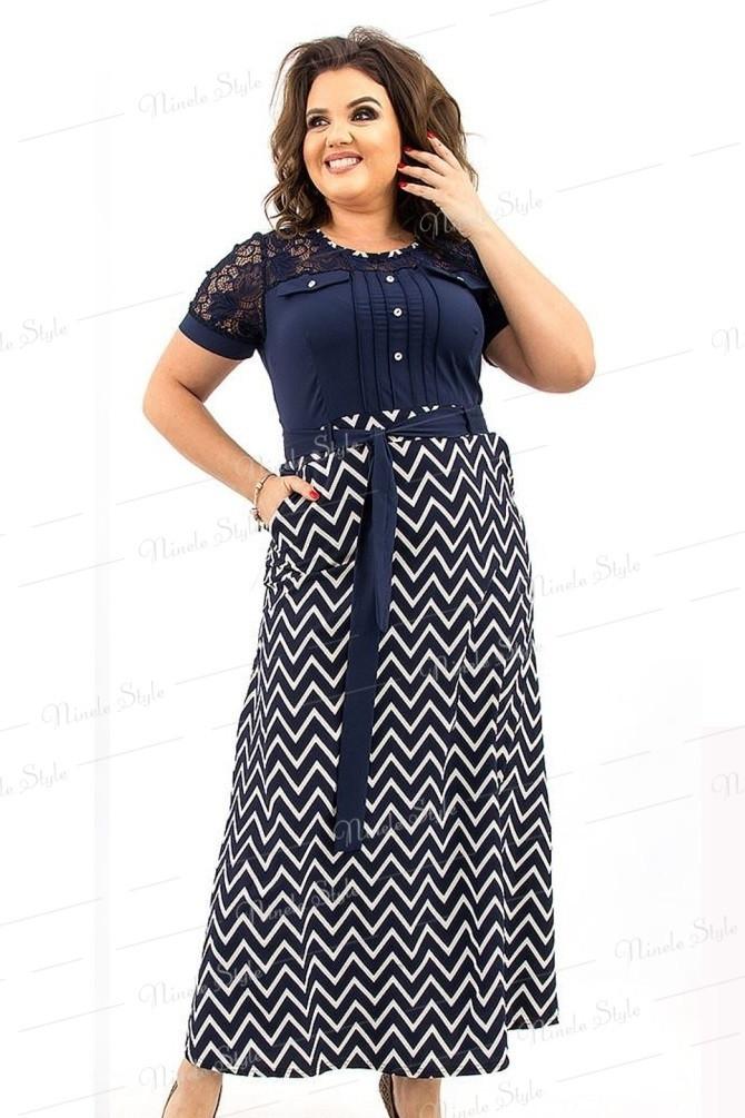 Синее длинное женское платье макси 193 54
