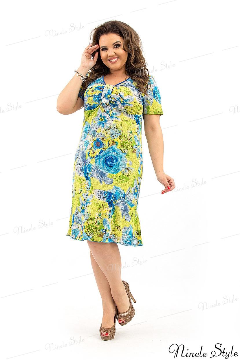 Легкое струящееся женское платье на каждый день 32 54