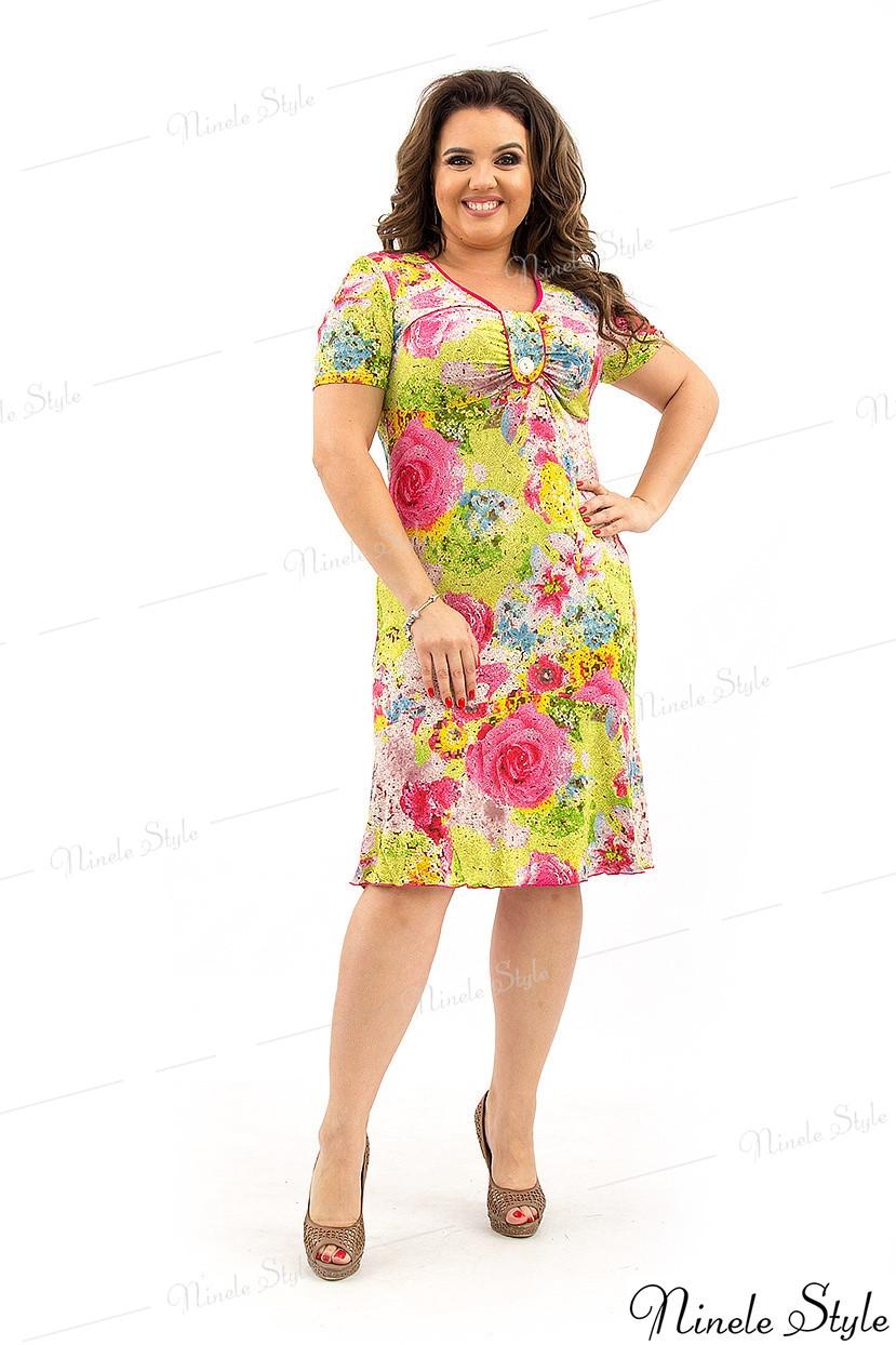 Яркое летнее женское платье 32-1 54