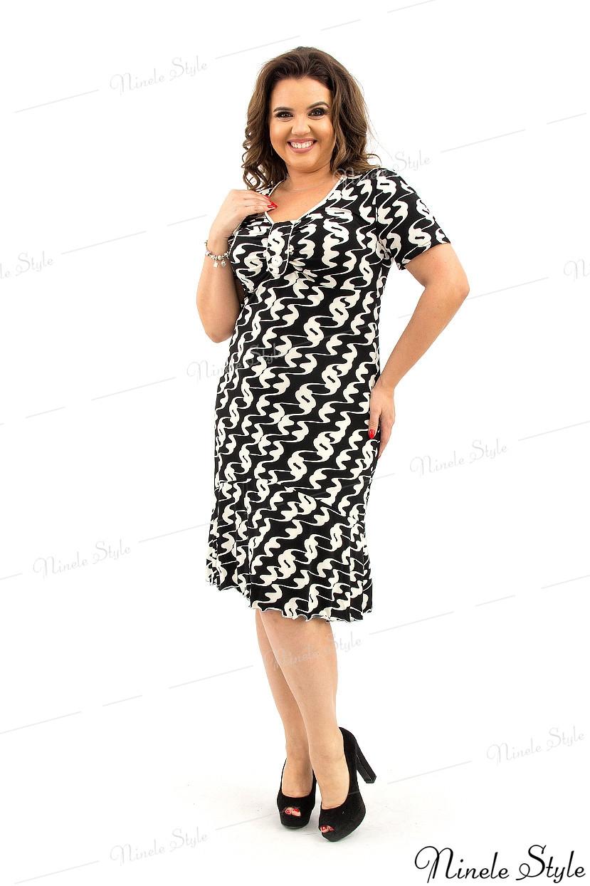 Оригинальное черное повседневное женское платье 32-2 50