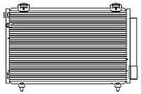 Радиатор кондиционера с ресивером Toyota Avensis (03-) 1.6i/1.8i/2.0D