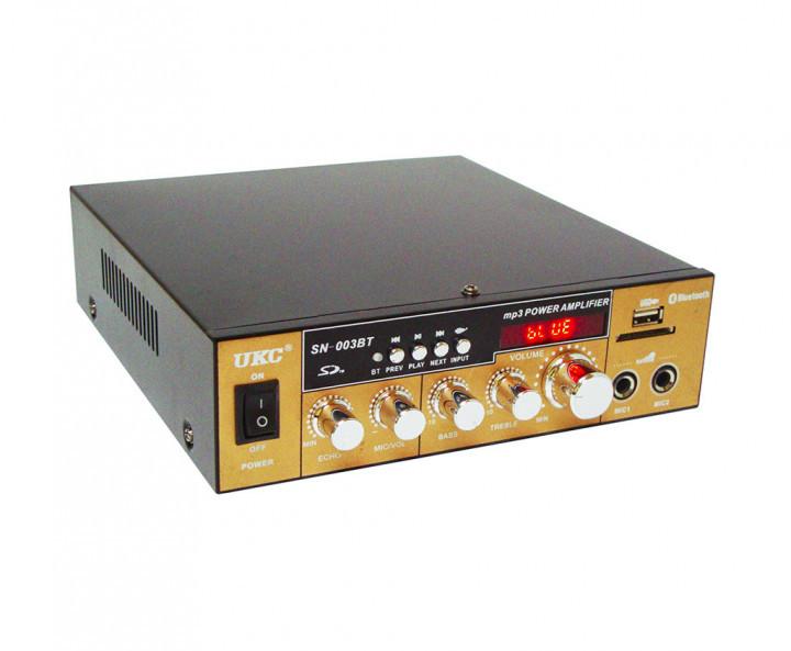 Усилитель звука к неактивным колонкам  с радио и Bluetooth USB  UKC SN 003 BT + караоке