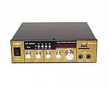 Усилитель звука к неактивным колонкам  с радио и Bluetooth USB  UKC SN 003 BT + караоке, фото 5