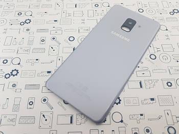 Крышка Samsung A8 Plus 2018 (A730F) серая Сервисный оригинал с разборки