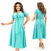 Летнее изящное бирюзовое женское платье  366 54, фото 4