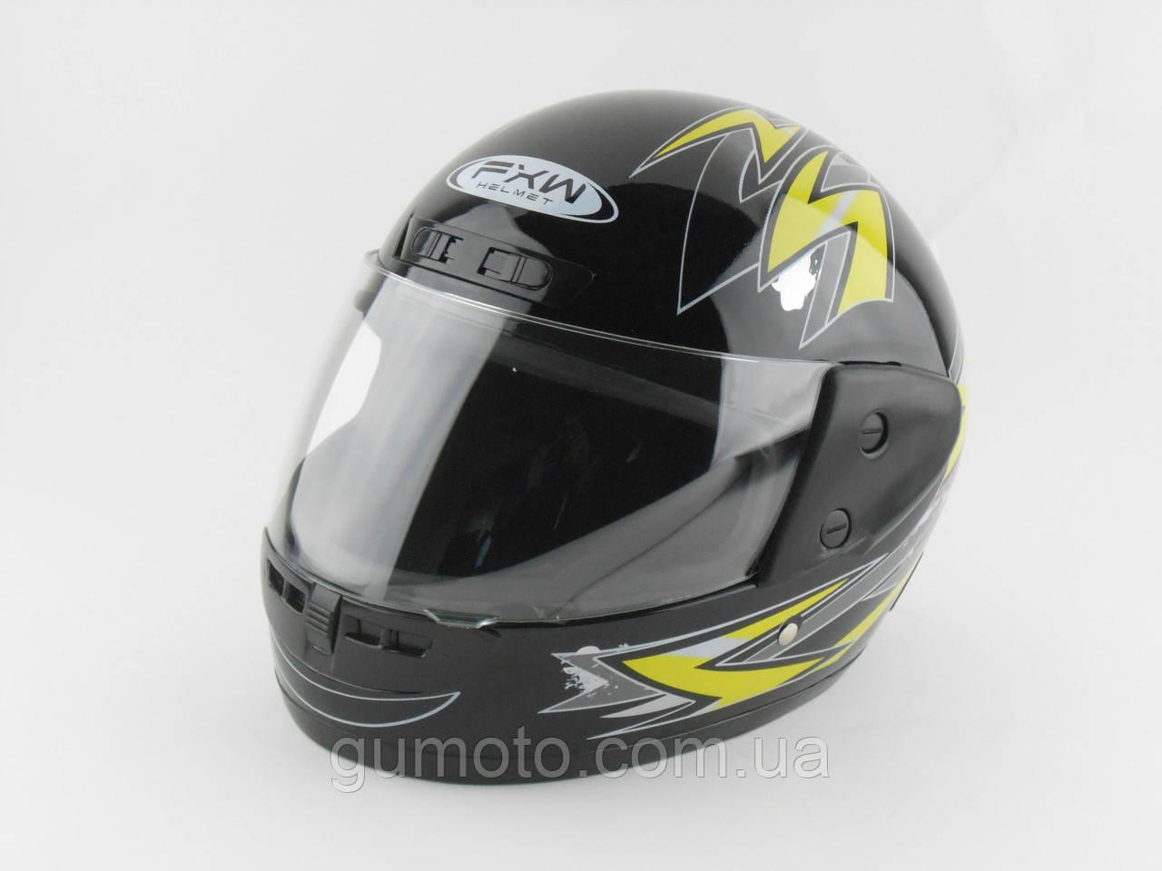 Шлемы для мотоциклов Hel-Met 101 черный жёлтый рисунок