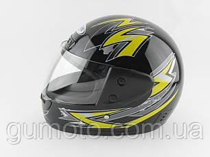 Шлемы для мотоциклов Hel-Met 101 черный жёлтый рисунок , фото 2
