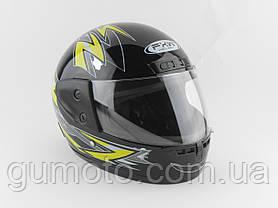 Шлемы для мотоциклов Hel-Met 101 черный жёлтый рисунок , фото 3