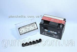 Аккумулятор для мотоцикла 12 В 4 Аh электролит оригинал Alpha/Delta, фото 2