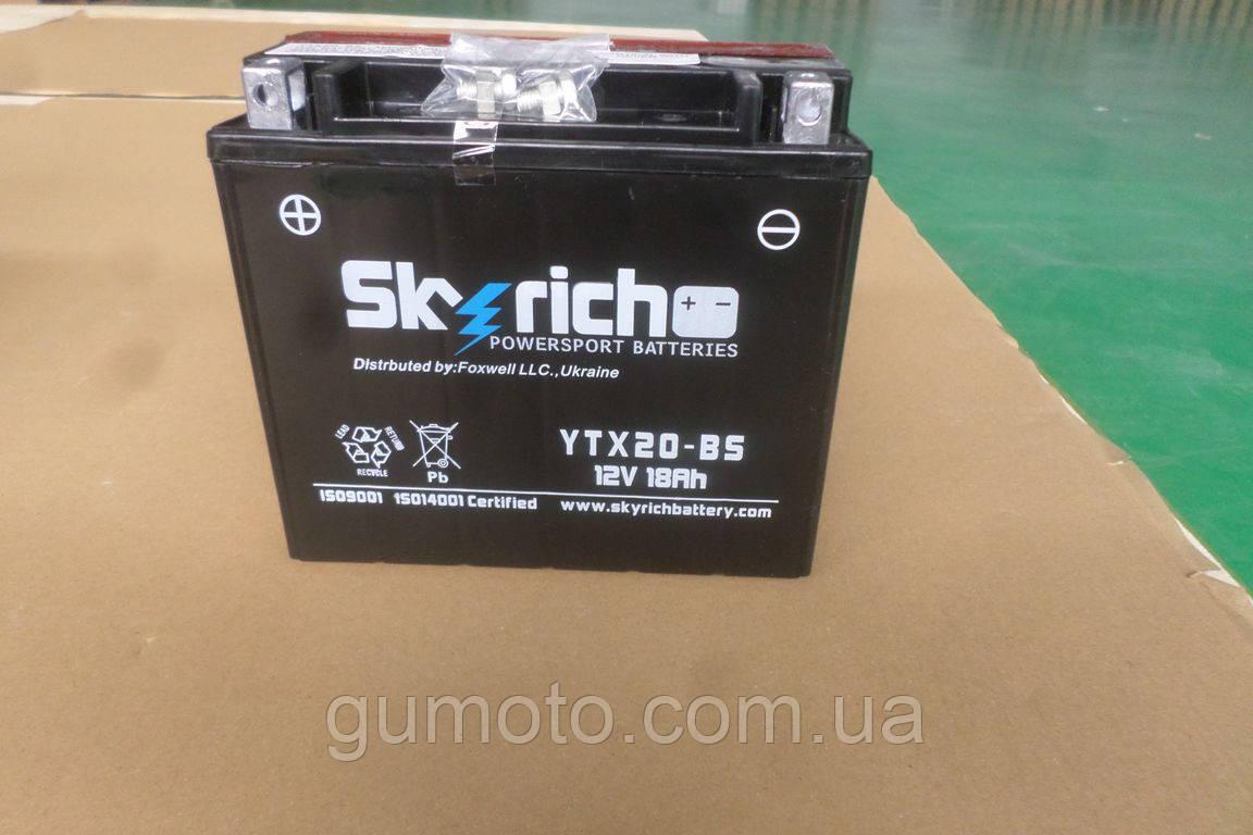 Аккумулятор на квадроцикл (мотоблок) 12 В 18 Аh электролит оригинал