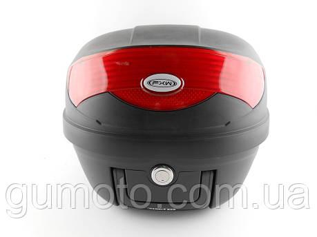 Кофр для мотоцикла (багажник) HF-808  черный мат, фото 2