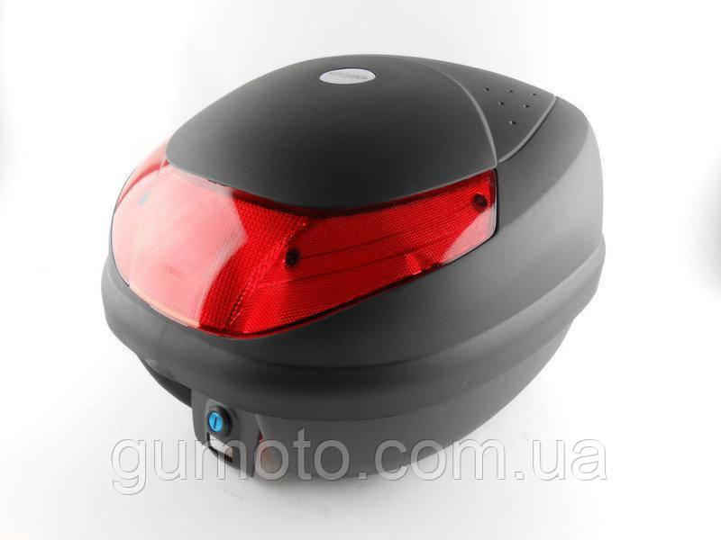 Кофр для мотоцикла (багажник) HF-998 черный мат