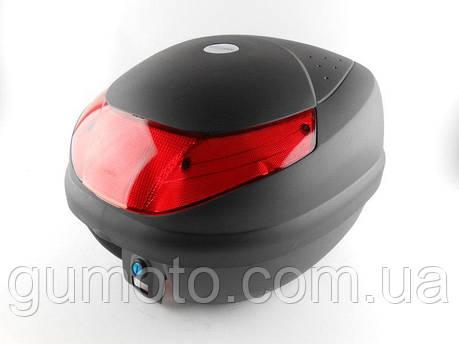 Кофр для мотоцикла (багажник) HF-998 черный мат , фото 2
