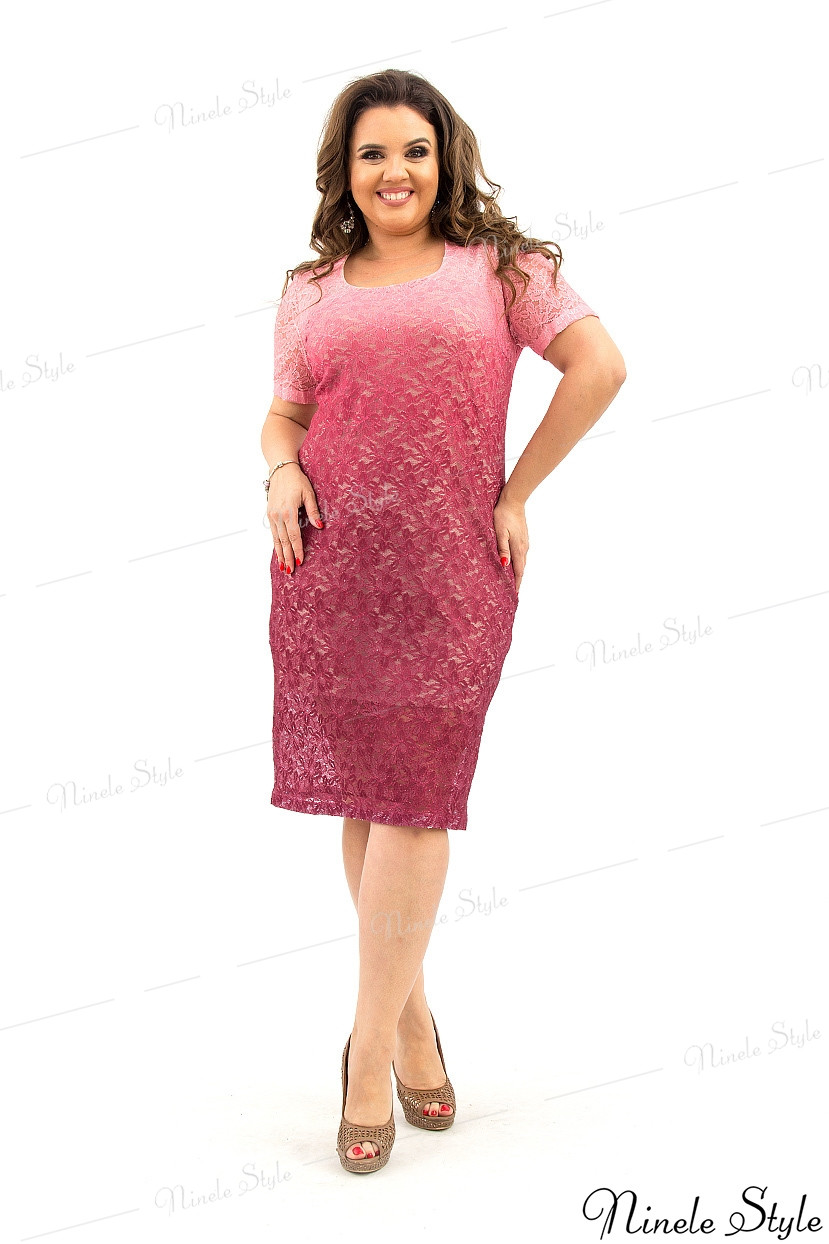 Вечернее бордовое женское платье с переливом из гипюра 225-2 54