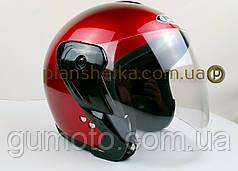 Шлем для мотоцикла Hel-Met 217 красный глянец