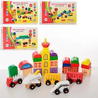 Деревянная игрушка Городок MD 2176 транспорт, 4 вида