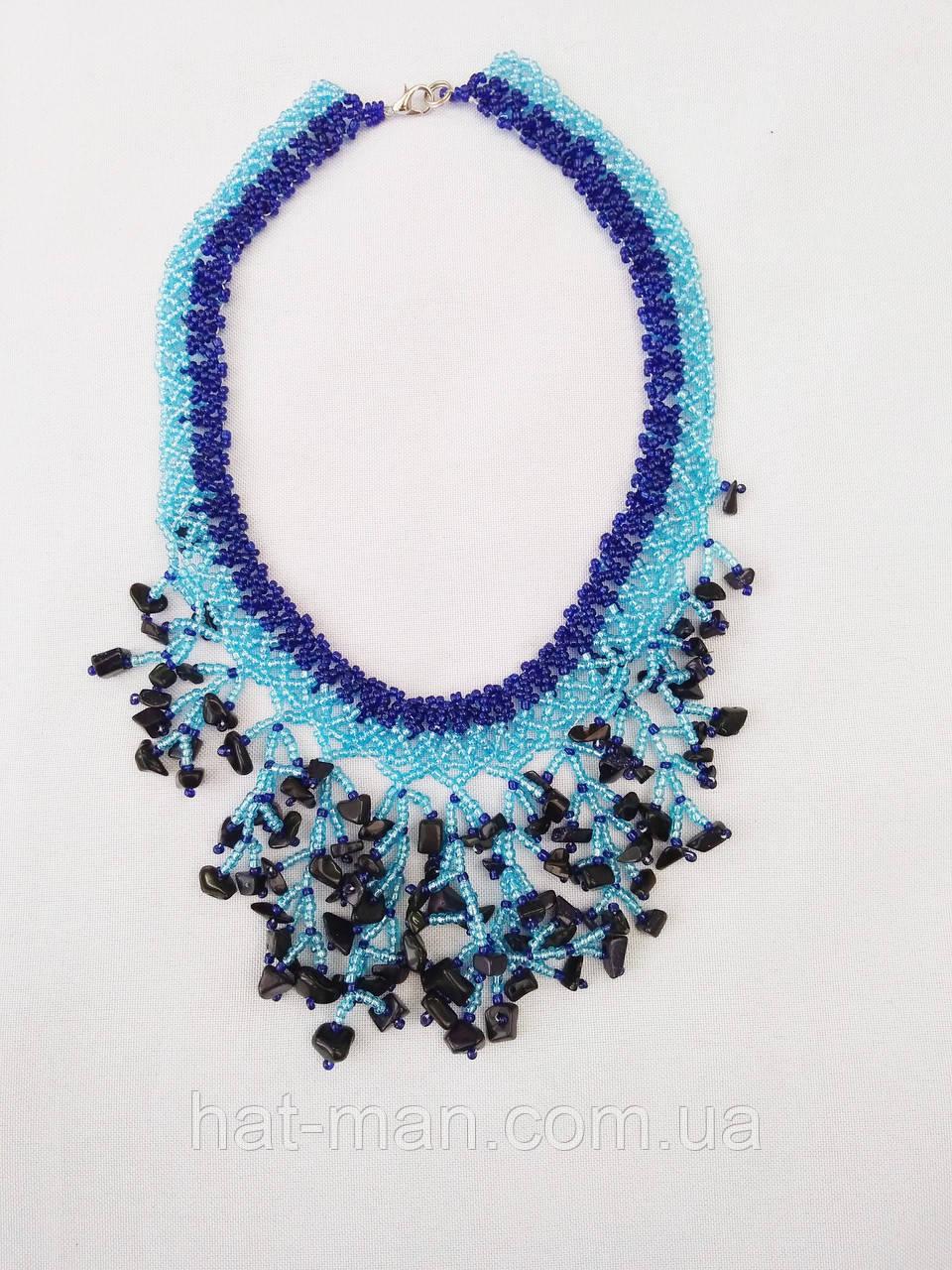 "Намисто з натурального каміння ""Небесна блакить"" (синьо-блакитне)"