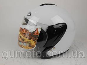 Шлем для мотоцикла Hel-Met 217 белый глянец, фото 2
