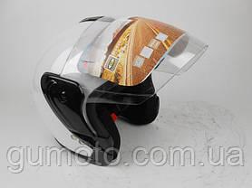 Шлем для мотоцикла Hel-Met 217 белый глянец, фото 3