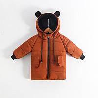 Коричневая куртка (наполнитель-биопух) для мальчика 104(4года)(р) весна-осень 00105