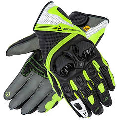 Мотоперчатки кожаные Rebelhorn ST Short Black/Yellow