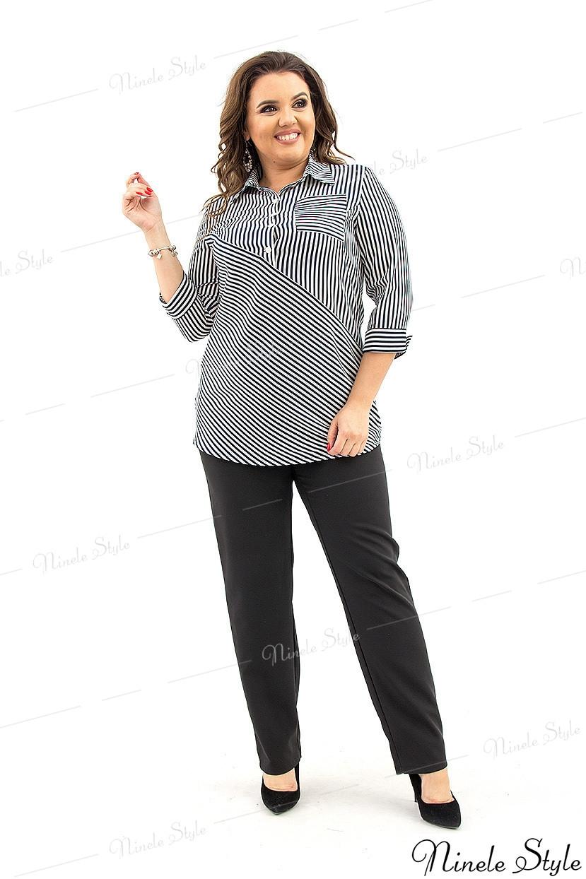 Блузка  женская в полоску    оригинального  покроя 364 54
