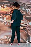 Женский брючный костюм Fashon 48-54 рр. Батал, фото 4