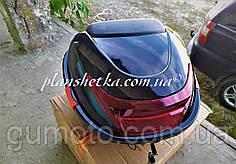 Мото кофр черный глянцевый на один шлем со спинкой