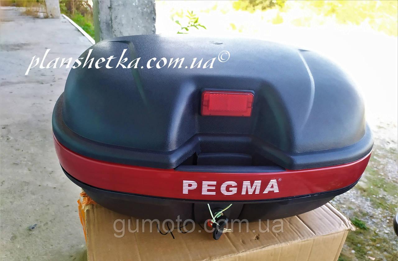 Мото кофр черный на два шлема Pegma (Корея)