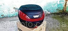 Кофр для мотоцикла багажник HF-866 черный мат (430х410х315 мм)