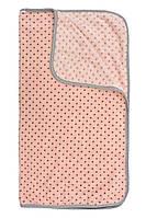 Плед, одеяло, конверт для новорожденных детское для девочки в горошок (Кораловый)
