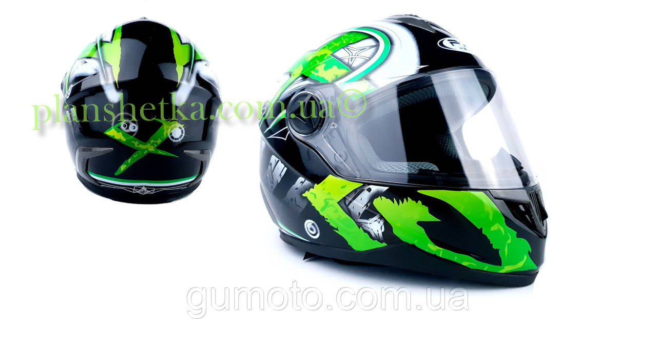 Шлем для мотоцикла Hel-Met 122 Green (зелёный)