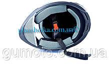 Шлем для мотоциклов Hel-Met 122 Blue черный мат, фото 3