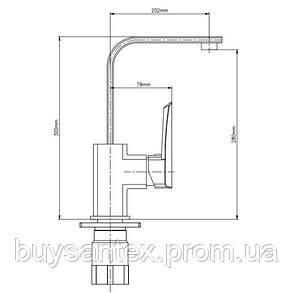 Смеситель для кухни GF (CRM)S-09-007F, фото 2