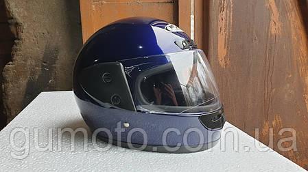 Шлем интеграл Hel-Met 101 синий глянец уценка, фото 2