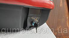 Кофр для мотоцикла багажник черный матовый 26 л на 1 шлем, фото 2