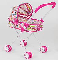 Коляска кукольная для девочки, металл, 3 дизайна, в кульке. Детская коляска для куклы
