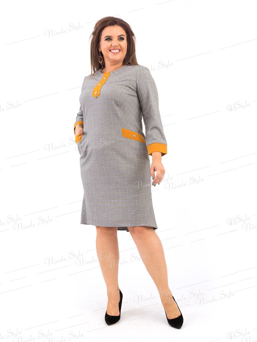 Повседневное женское платье в клетку 374 54