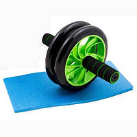Ролик для пресса Double wheel Зеленый