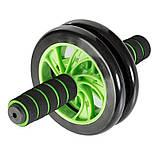 Ролик для пресса Double wheel Зеленый, фото 2